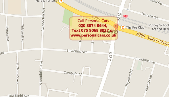 putney taxi minicab